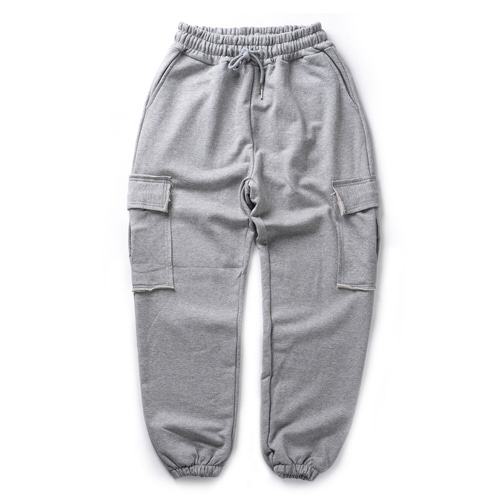 CB ACON WASHING NATURAL CUTTING CARGO PANTS (GRAY)