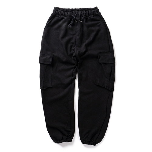 CB ACON WASHING NATURAL CUTTING CARGO PANTS (BLACK)